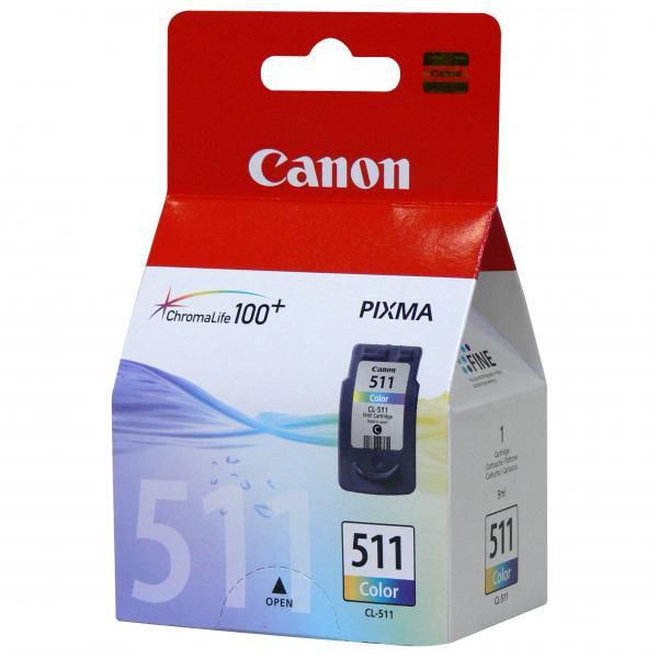 Canon originální ink blistr s ochranou, CL511, color, 245str., 9ml, 2972B010, 2972B004, Canon MP240, MP260