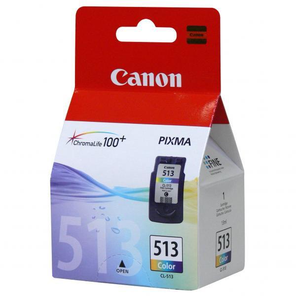 Canon originální ink blistr s ochranou, CL513, color, 350str., 13ml, 2971B004, 2971B009, Canon MP240, MP260