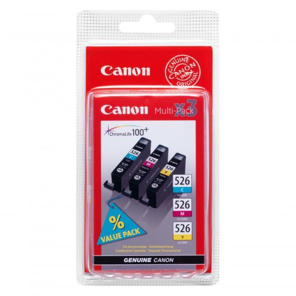 Canon originální ink CLI526 CMY, cyan/magenta/yellow, 340str., 4541B009, 4541B006, Canon Pixma MG5150, MG5250, MG6150, MG8150