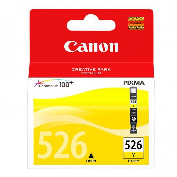 Canon originální ink blistr s ochranou, CLI526Y, yellow, 9ml, 4543B006, Canon Pixma MG5150, MG5250, MG6150, MG8150
