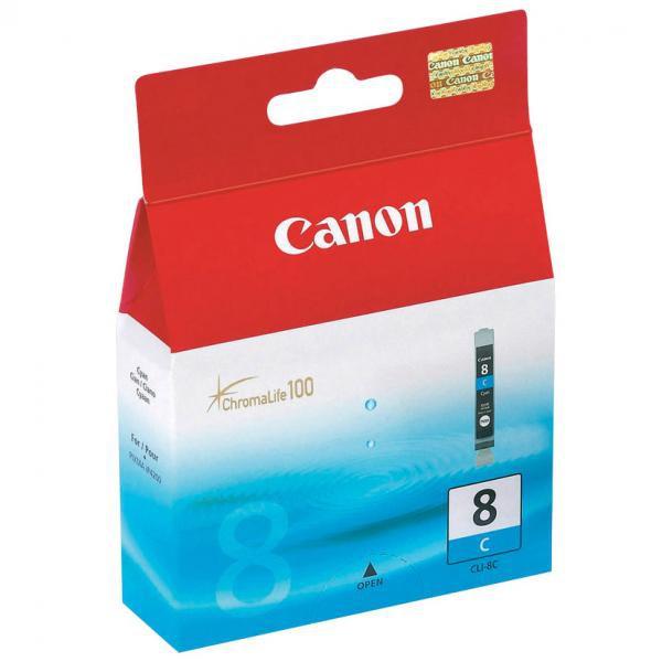 Canon originální ink blistr s ochranou, CLI8C, cyan, 420str., 13ml, 0621B028, 0621B006, Canon iP4200, iP5200, iP5200R, MP500, MP80