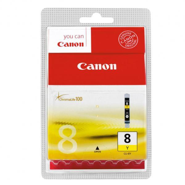 Canon originální ink blistr s ochranou, CLI8Y, yellow, 420str., 13ml, 0623B026, 0623B006, Canon iP4200, iP5200, iP5200R, MP500, MP