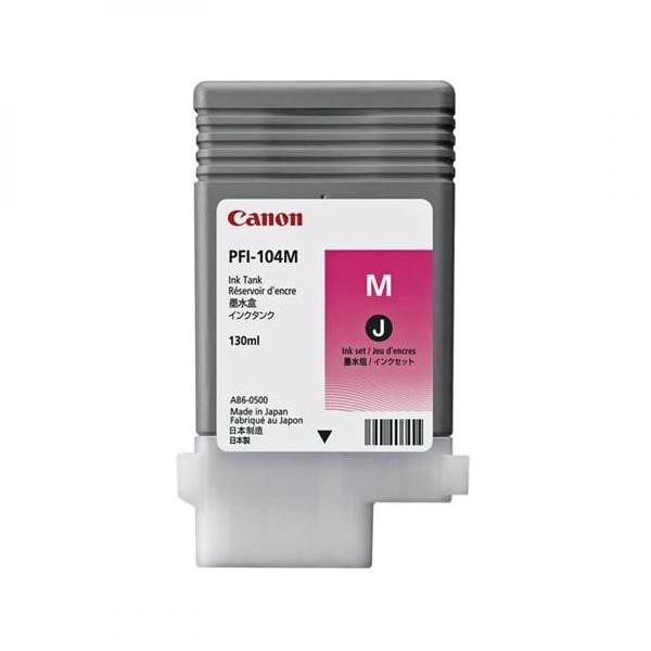 Canon originální ink PFI104M, magenta, 130ml, 3631B001, Canon iPF65x, 75x