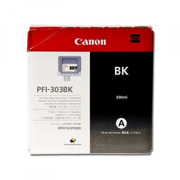 Canon originální ink PFI303BK, black, 330ml, 2958B001, Canon iPF-810, 820