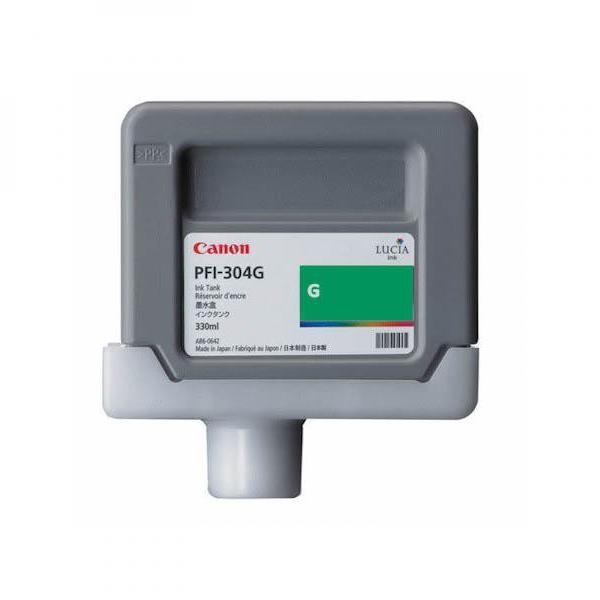 Canon originální ink PFI304G, green, 330ml, 3856B005, Canon iPF-8300
