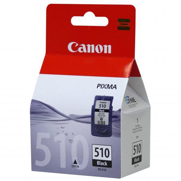 Canon originální ink blistr s ochranou, PG510BK, black, 220str., 9ml, 2970B009, 2970B004, Canon MP240, 260