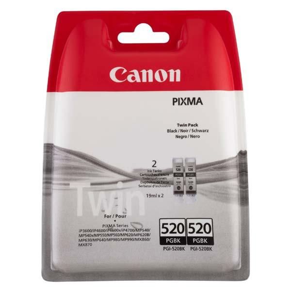 Canon originální ink blistr, PGI520BK, black, 2x420str., 2x19ml, 2932B012, 2932B009, 2ks, Canon Pixma iP3600, iP4600