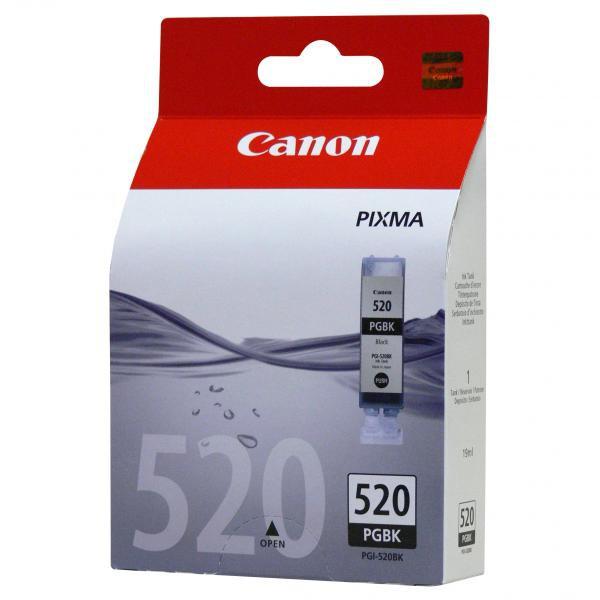 Canon originální ink blistr s ochranou, PGI520BK, black, 19ml, 2932B011, 2932B005, Canon iP3600, 4600, MP620, 630, 980