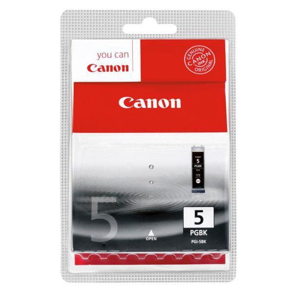 Canon originální ink blistr s ochranou, PGI5BK, black, 360str., 26ml, 0628B029, 0628B006, Canon iP4200, 5200, 5200R, MP500, 800