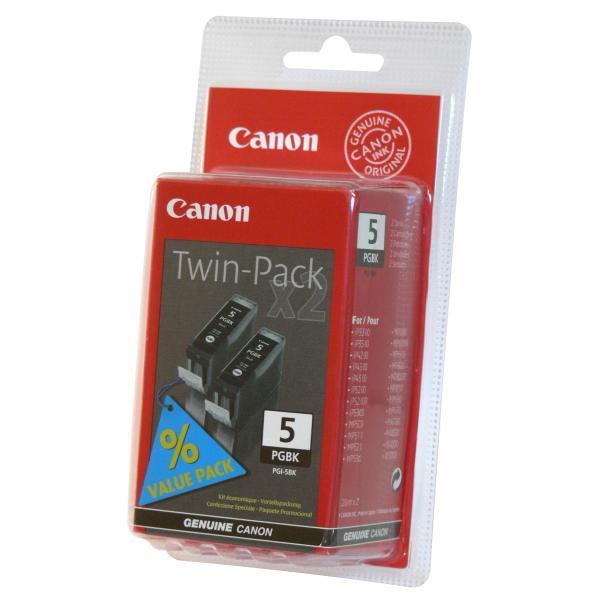 Canon originální ink PGI5BK, black, 0628B025, 0628B030, 2ks, Canon iP3300, 3500, 4200, 4300, 4500, 5200R