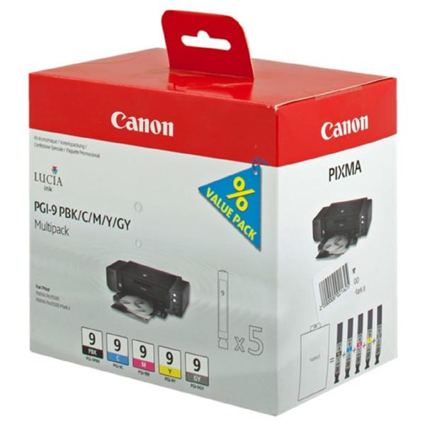 Canon originální ink PGI9, PBK/C/M/Y/GY, 1034B013, 1034B011, Canon Pro9500