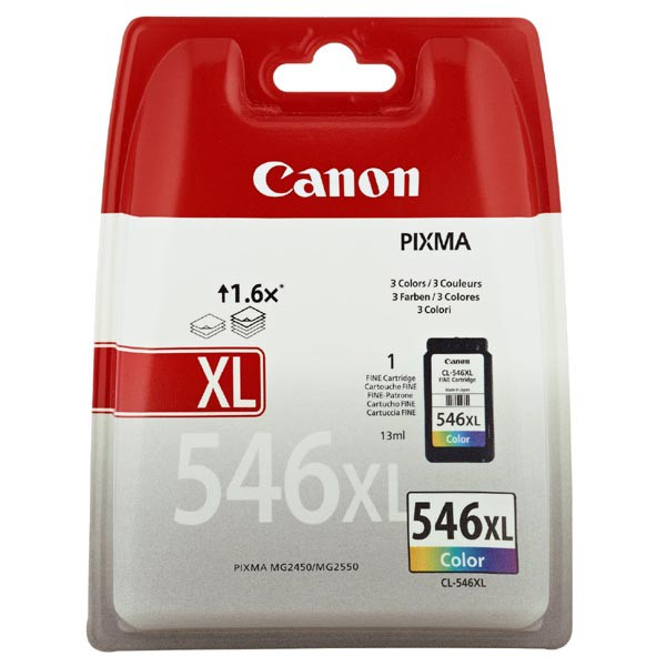 Canon originální ink blistr, CL-546XL, colour, 300str., 13ml, 8288B004, Canon Pixma MG2250,2450,2550