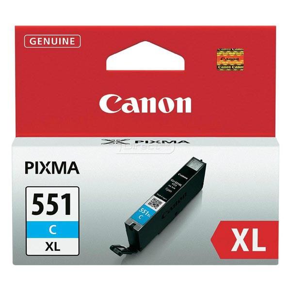Canon originální ink blistr, CLI551C XL, cyan, 11ml, 6444B004, high capacity, Canon PIXMA iP7250, MG5450, MG6350
