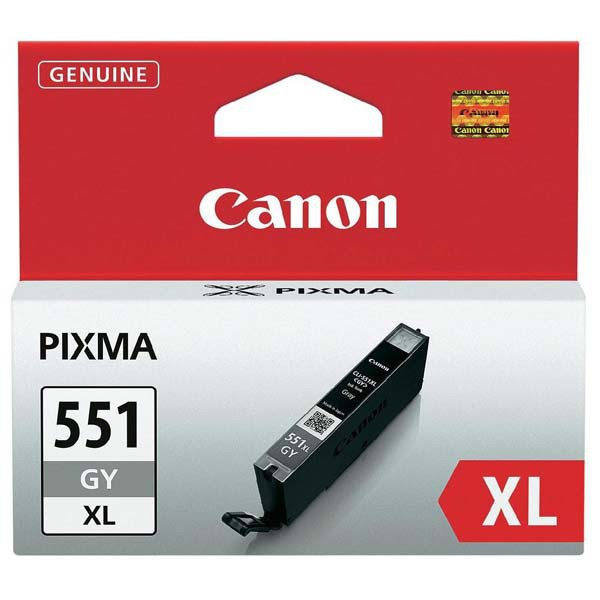 Canon originální ink CLI551GY XL, grey, 11ml, 6447B001, high capacity, Canon PIXMA iP7250, MG5450, MG6350, MG7550