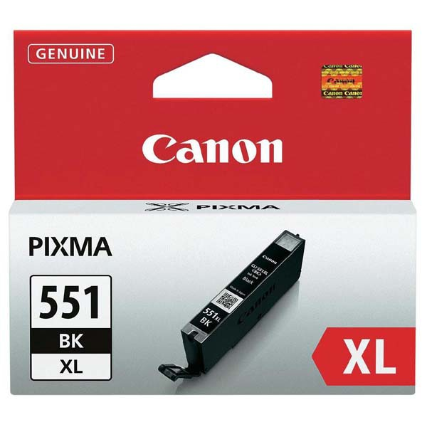 Canon originální ink CLI551BK XL, black, 1130str., 11ml, 6443B001, high capacity, Canon PIXMA iP7250, MG5450, MG6350, MG7550