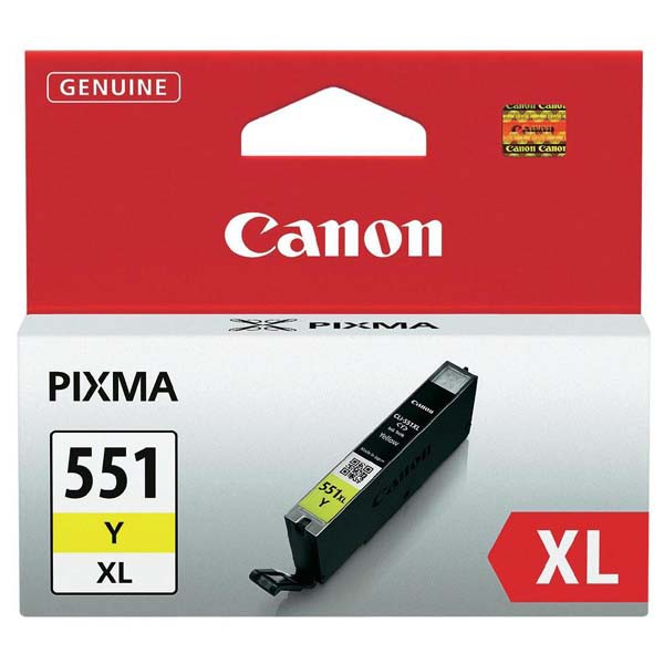 Canon originální ink CLI551Y XL, yellow, 11ml, 6446B001, high capacity, Canon PIXMA iP7250, MG5450, MG6350, MG7550