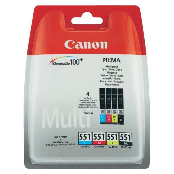 Canon originální ink blistr, 6509B009, CLI551, CMYK, Canon PIXMA iP7250, MG5450, MG6350, MG7550