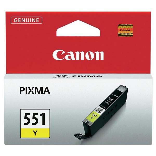 Canon originální ink CLI551Y, yellow, 7ml, 6511B001, Canon PIXMA iP7250, MG5450, MG6350, MG7550