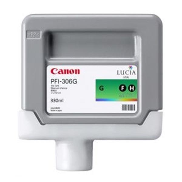 Canon originální ink PFI306G, green, 330ml, 6664B001, Canon iPF-8300