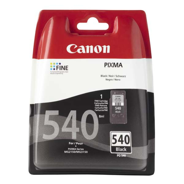 Canon originální ink PG540, black, 180str., 5225B005, Canon Pixma MG2150, 3150