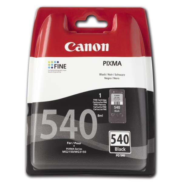 Canon originální ink blistr s ochranou, PG540, black, 180str., 5225B004, Canon Pixma MG2150, 3150