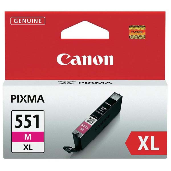 Canon originální ink CLI551M XL, magenta, 11ml, 6445B001, high capacity, Canon PIXMA iP7250, MG5450, MG6350, MG7550