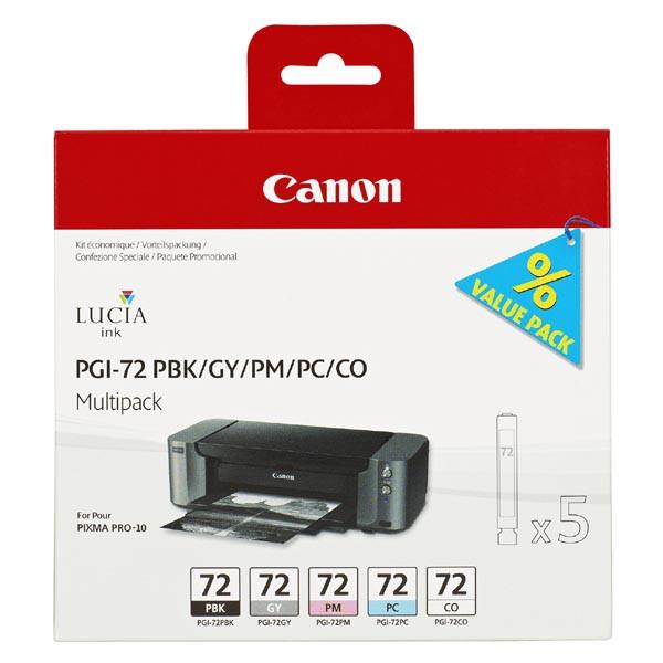 Canon originální ink PGI72, PBK/GY/PM/PC/CO, 6403B007, Canon PIXMA Pro-10