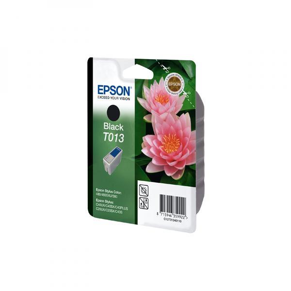 Epson originální ink C13T013401, black, 300str., 10ml, Epson Stylus Color 480, 580, C20SX, UX, C40UX