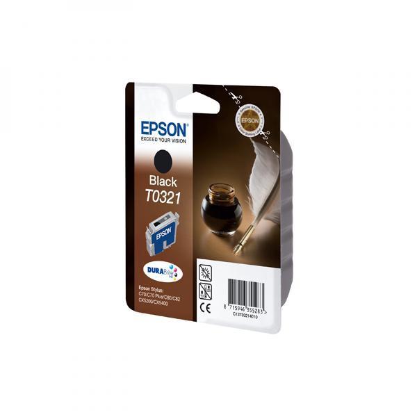 Epson originální ink C13T032140, black, 1240str., 33ml, Epson Stylus Color C80, C82, C70, CX5200, CX5400