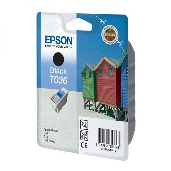 Epson originální ink C13T036140, black, 330str., 10ml, Epson Stylus C42UX, 46