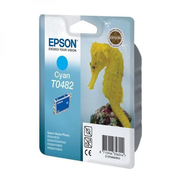 Epson originální ink C13T048240, cyan, 430str., 13ml, Epson Stylus Photo R200, 220, 300, 320, 340, RX500, 600