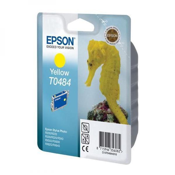 Epson originální ink C13T048440, yellow, 430str., 13ml, Epson Stylus Photo R200, 220, 300, 320, 340, RX500, 600