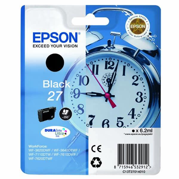 Epson originální ink C13T27014010, 27, black, 6,2ml, Epson WF-3620, 3640, 7110, 7610, 7620