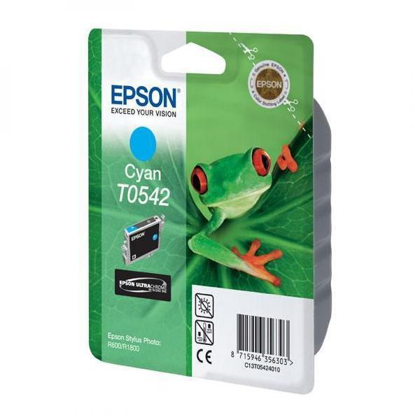 Epson originální ink C13T054240, cyan, 400str., 13ml, Epson Stylus Photo R800, R1800