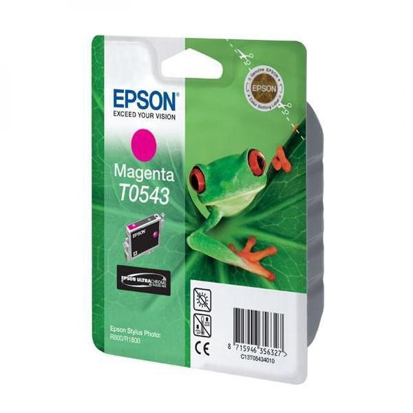 Epson originální ink C13T054340, magenta, 400str., 13ml, Epson Stylus Photo R800, R1800