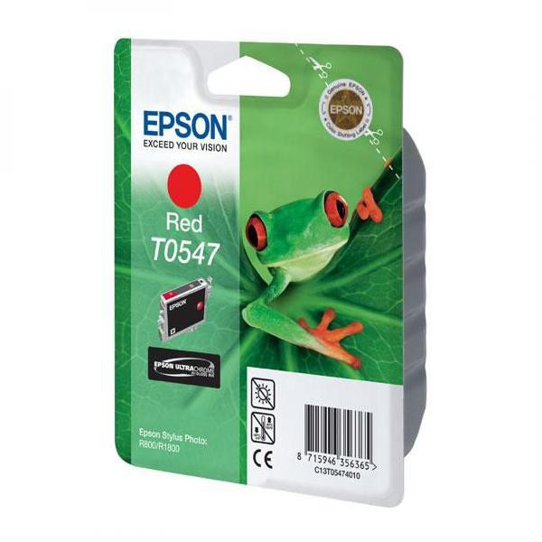 Epson originální ink C13T054740, red, 400str., 13ml, Epson Stylus Photo R800, R1800