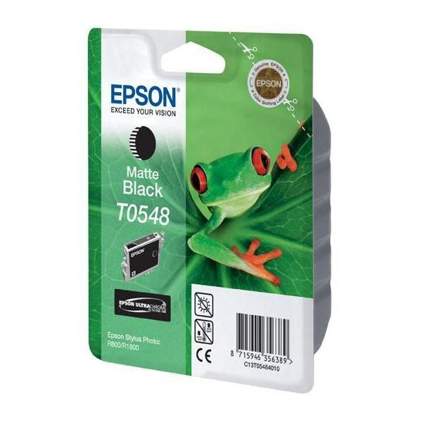 Epson originální ink C13T054840, matte black, 550str., 13ml, Epson Stylus Photo R800, R1800