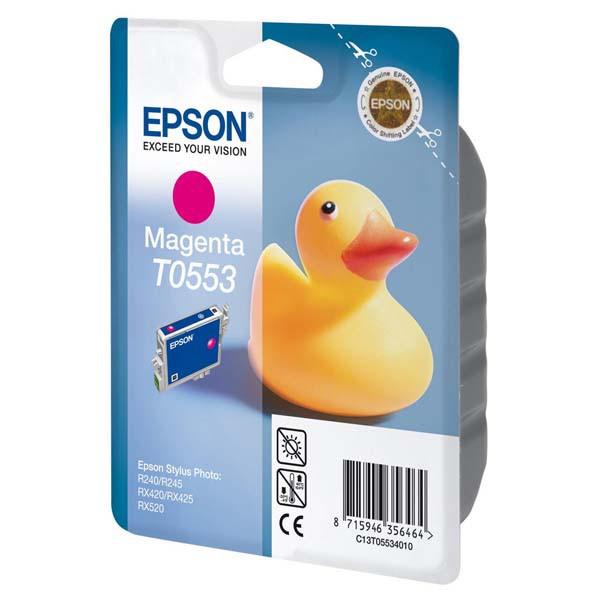 Epson originální ink C13T055340, magenta, 290str., 8ml, Epson Stylus Photo RX425, 420