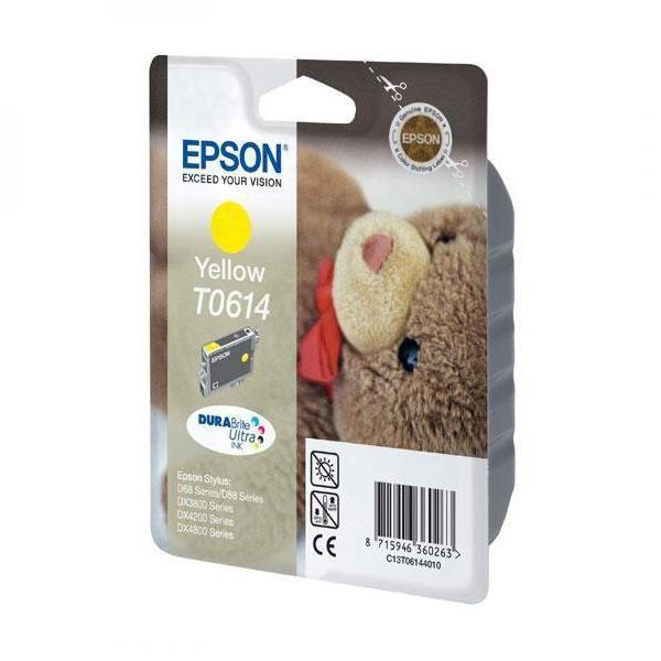 Levně EPSON T0614 (C13T06144010) - originální cartridge, žlutá, 250 stran