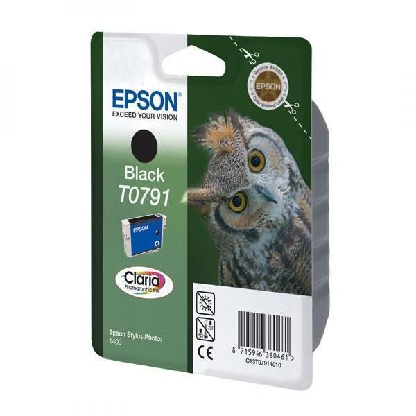 Epson originální ink C13T079140, black, 11,1ml, Epson Stylus Photo 1400