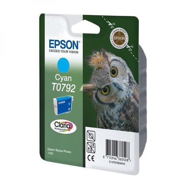 Epson originální ink C13T079240, cyan, 11,1ml, Epson Stylus Photo 1400