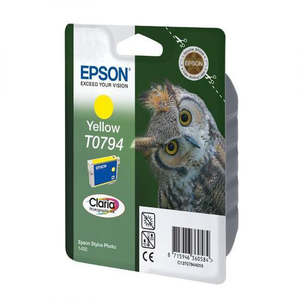 Epson originální ink C13T079440, yellow, 11,1ml, Epson Stylus Photo 1400