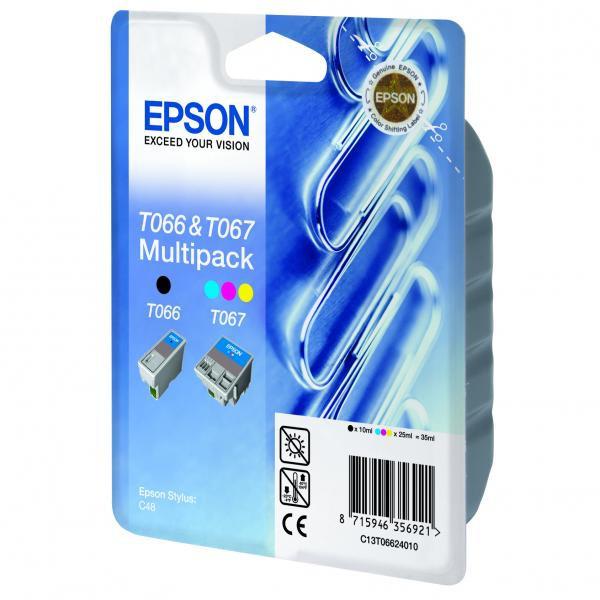 Epson originální ink C13T06624010, black/color, 220str., 9,25ml, Epson Stylus C48