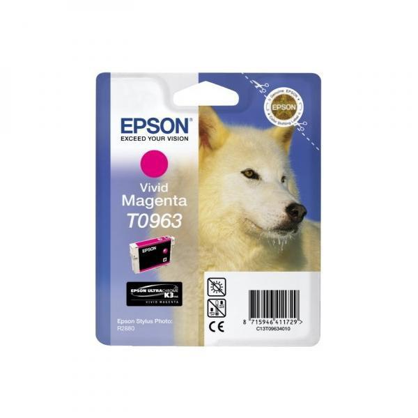 Epson originální ink C13T09634010, magenta, 13ml, Epson Stylus Photo R2880