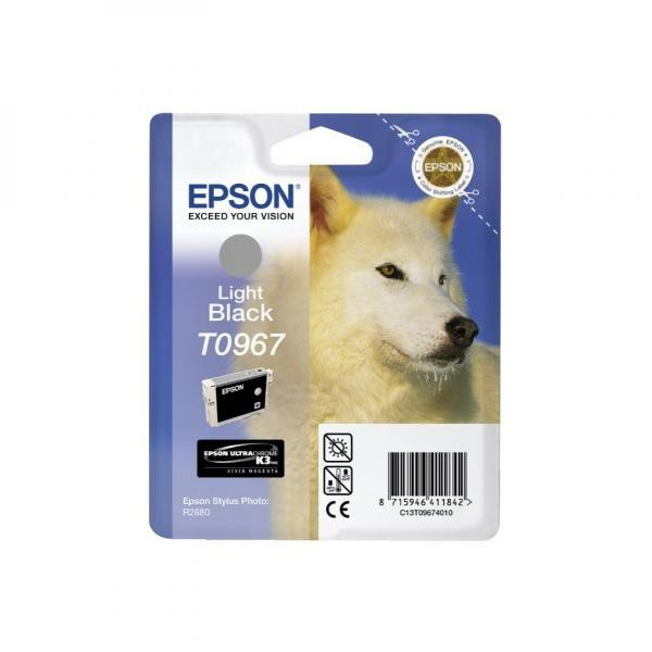Epson originální ink C13T09674010, light black, 13ml, Epson Stylus Photo R2880