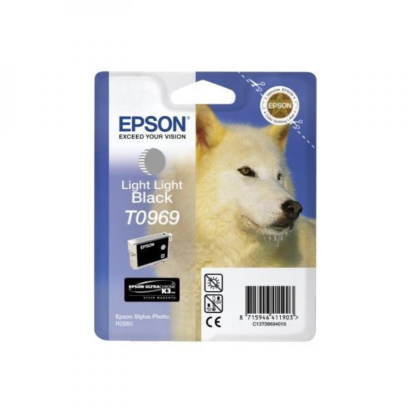 Epson originální ink C13T09694010, light light black, 13ml, Epson Stylus Photo R2880
