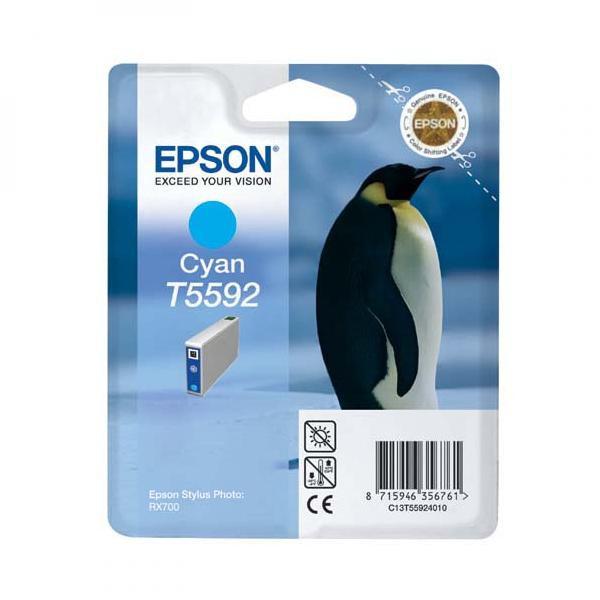Epson originální ink C13T55924010, cyan, 13ml, Epson Stylus Photo RX700