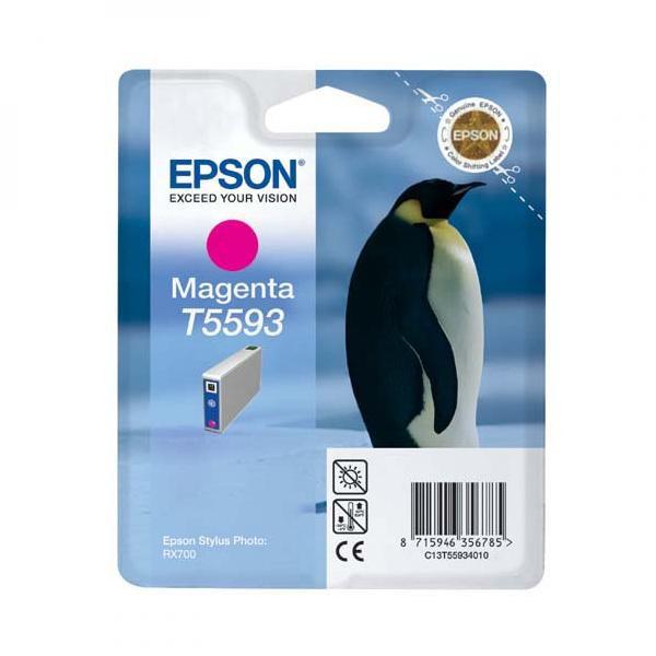 Epson originální ink C13T55934010, magenta, 13ml, Epson Stylus Photo RX700