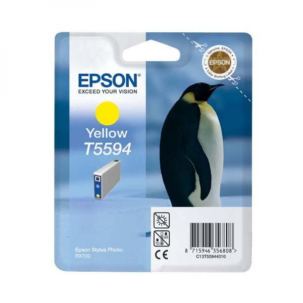 Epson originální ink C13T55944010, yellow, 13ml, Epson Stylus Photo RX700