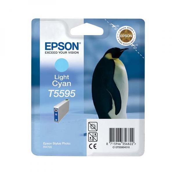 Epson originální ink C13T55954010, light cyan, 13ml, Epson Stylus Photo RX700
